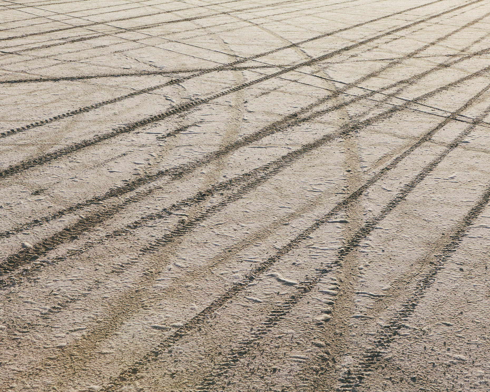 Tire tracks on playa, Black Rock Desert, Nevada - Paul Edmondson