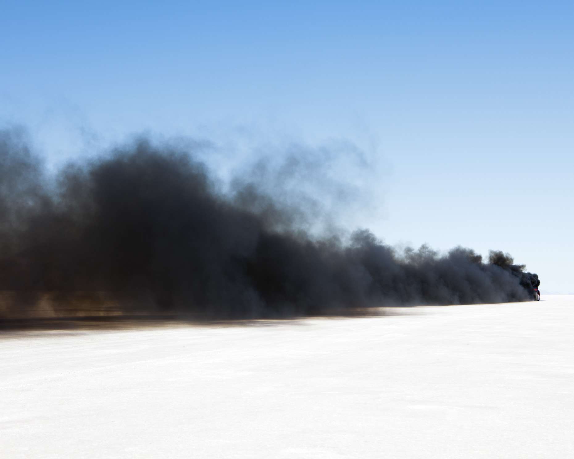 Exhaust plume form worlds fastet semi-truck, World of Speed, Bonneville Salt Flats, Utah - Paul Edmondson