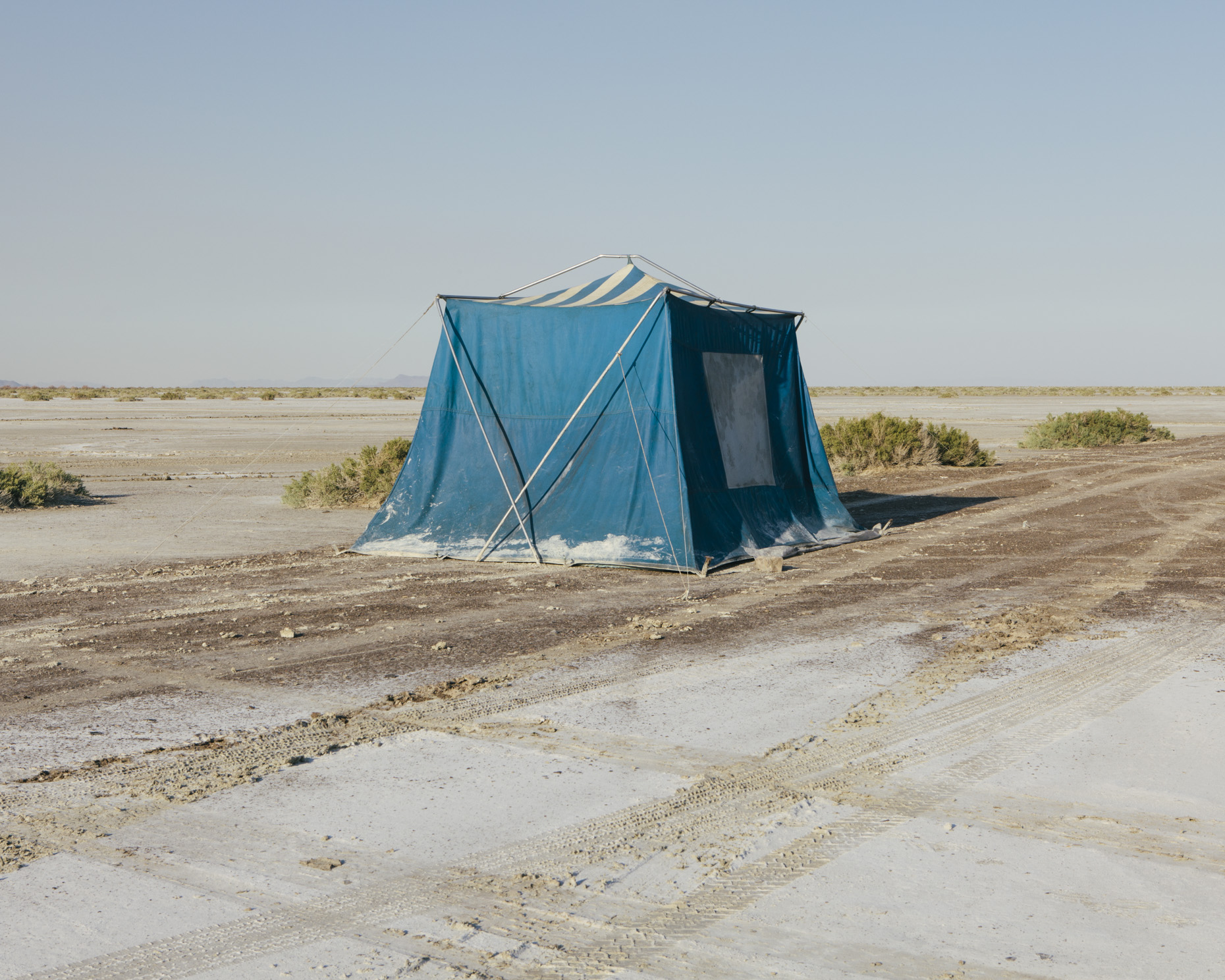 Blue tent, Bonneville Salt Flats, Speed Week, Utah - Paul Edmondson
